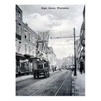 Vieille carte postale - grand-rue, Worcester