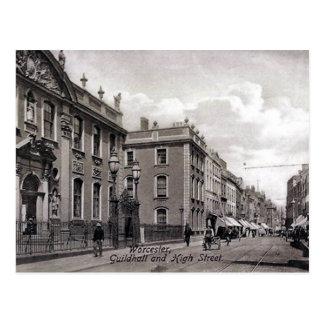 Vieille carte postale - haut St, Worcester