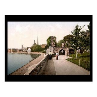 Vieille carte postale - la promenade, Worcester