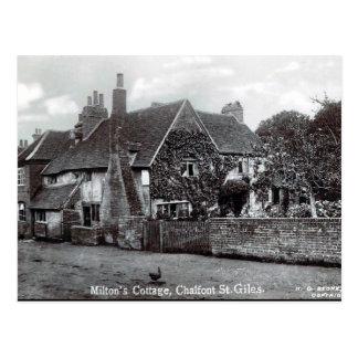 Vieille carte postale - le cottage de Milton,