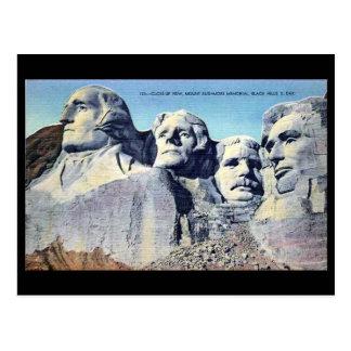 Vieille carte postale - le mont Rushmore, le