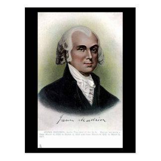 Vieille carte postale - le Président James Madison
