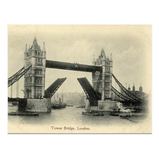 Vieille carte postale - Londres, pont de tour