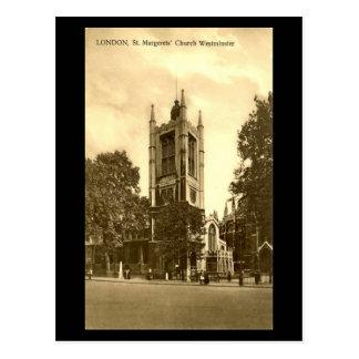 Vieille carte postale, Londres, St Margaret,