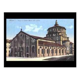 Vieille carte postale - Milan, grazie de delle
