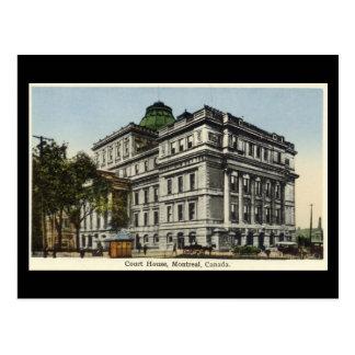 Vieille carte postale, Montréal, palais de justice