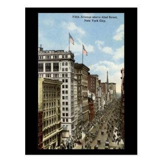 Vieille carte postale, New York City, 5ème avenue Carte Postale