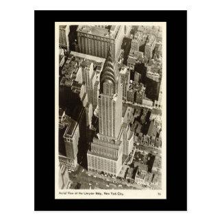 Vieille carte postale, New York City, construction