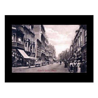 Vieille carte postale, Oxford, rue de la Reine