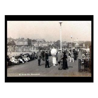 Vieille carte postale - pilier de Bournemouth