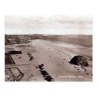 Vieille carte postale - plage de Crinnis, pair,