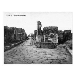 Vieille carte postale - Pompéi, Strada Consolare