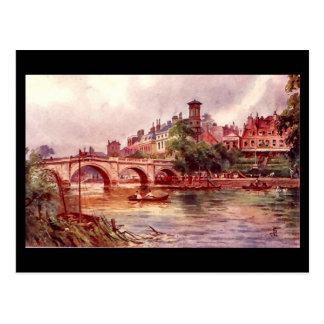 Vieille carte postale - pont de Richmond