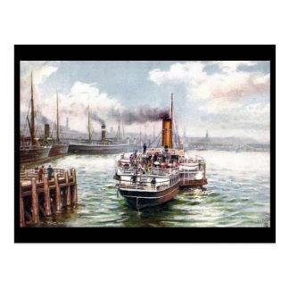 Vieille carte postale - port de Belfast
