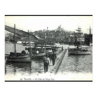 Vieille carte postale - port de Vieux, Marseille