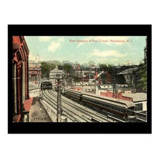 Vieille carte postale - Providence RI, tunnel de