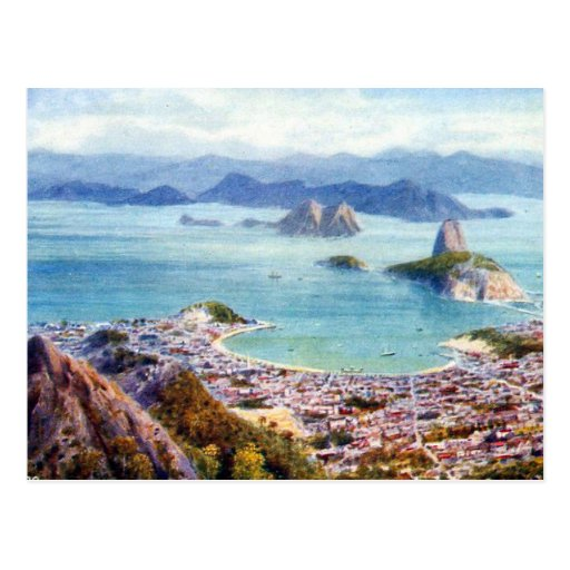 Vieille carte postale - Rio de Janeiro, Brésil