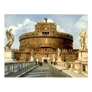 Vieille carte postale, Rome, Castel Sant'Angelo
