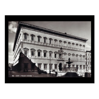 Vieille carte postale - Rome, Palazzo Farnese