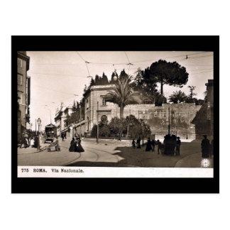 Vieille carte postale, Rome, par l'intermédiaire