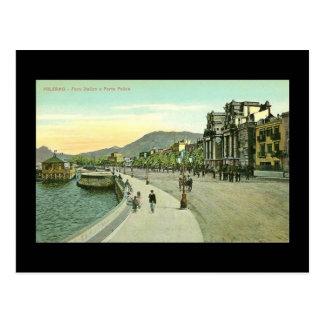 Vieille carte postale, Sicile, Palerme