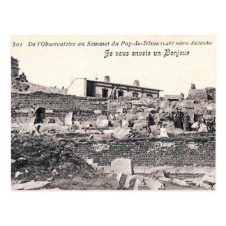 Vieille carte postale - sommet, Puy de Dôme