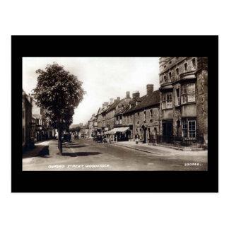 Vieille carte postale - St d'Oxford, Woodstock,