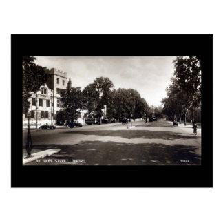 Vieille carte postale, St Giles, Oxford