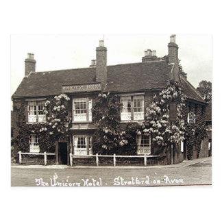 Vieille carte postale, Stratford-sur-Avon