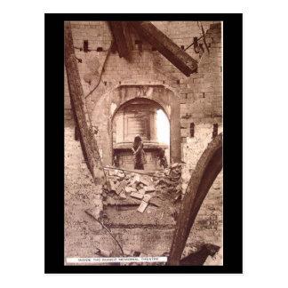 Vieille carte postale - Stratford-sur-Avon, ruines