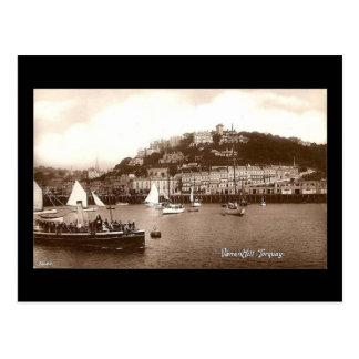 Vieille carte postale, Torquay, Devon