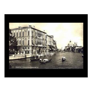 Vieille carte postale, Venise, Palazzo Franchetti