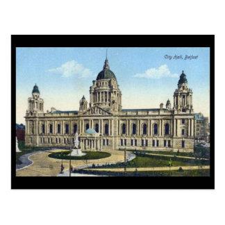 Vieille carte postale - ville hôtel, Belfast