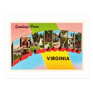 Vieille carte postale vintage de voyage de