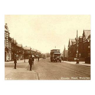 Vieille carte postale - Waterloo, Merseyside