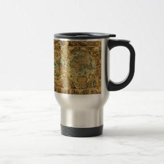 Vieille carte vintage antique du monde illustrée mug de voyage en acier inoxydable
