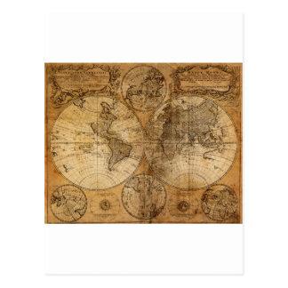 Vieille carte vintage du monde