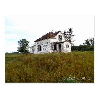 Vieille Chambre en carte postale de Saskatchewan