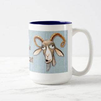 Vieille chèvre aimable - personnaliser tasse 2 couleurs