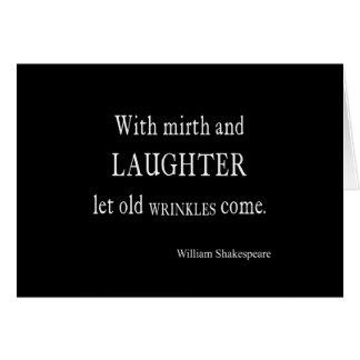 Vieille citation de Shakespeare de rides de gaieté Cartes