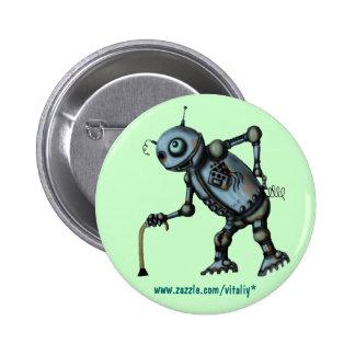 Vieille conception fraîche drôle de bouton de robo pin's