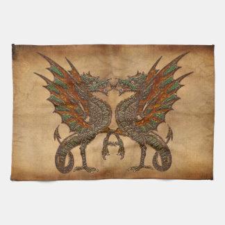 Vieille conception médiévale de dragon du YE Linge De Cuisine