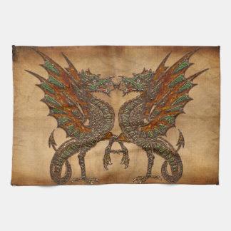 Vieille conception médiévale de dragon du YE Serviette Éponge