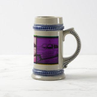 Vieille copie classique d'art de bruit d'aquarelle chope à bière