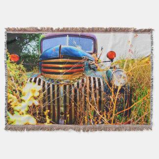 vieille couverture de jet de camion