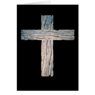 Vieille croix en bois cartes