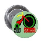 Vieille école badge avec épingle
