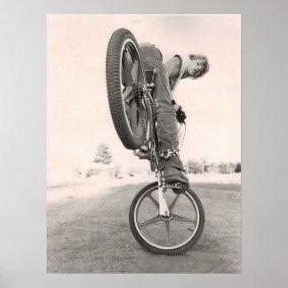 Vieille école vintage BMX Poster
