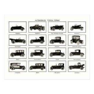 Vieille et classique voiture (rétro automobile) :  cartes postales