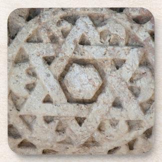 Vieille étoile de David découpant, Israël Dessous-de-verre